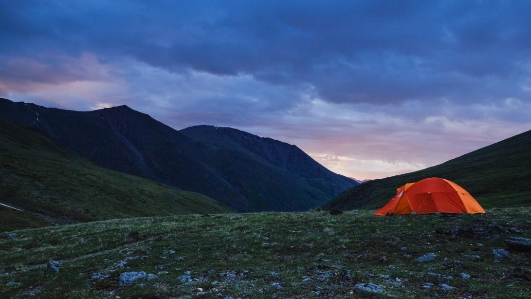 4 SAB Tent at Dusk