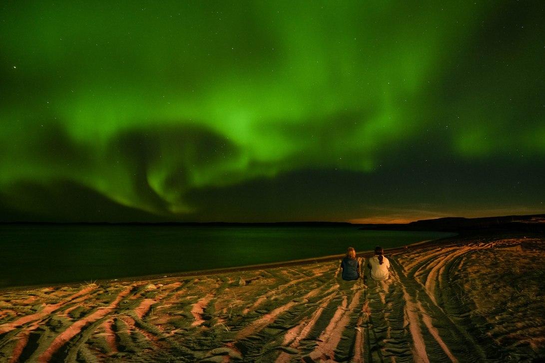 Beach Aurora borealis