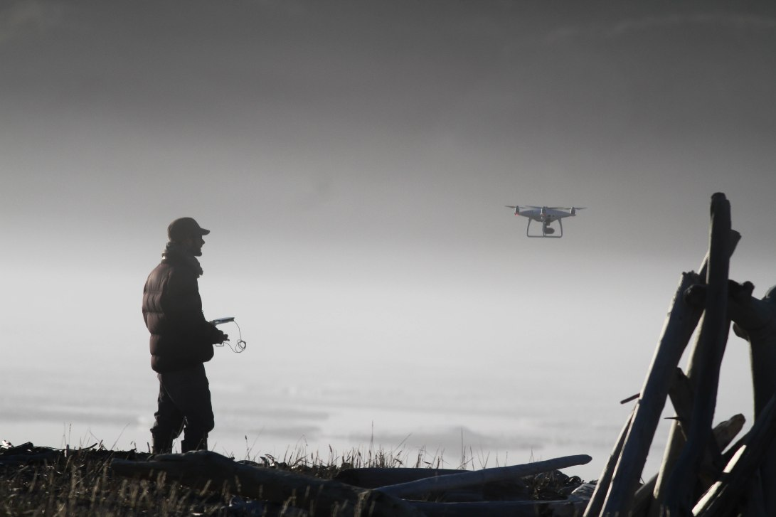 GD Drone in the mist