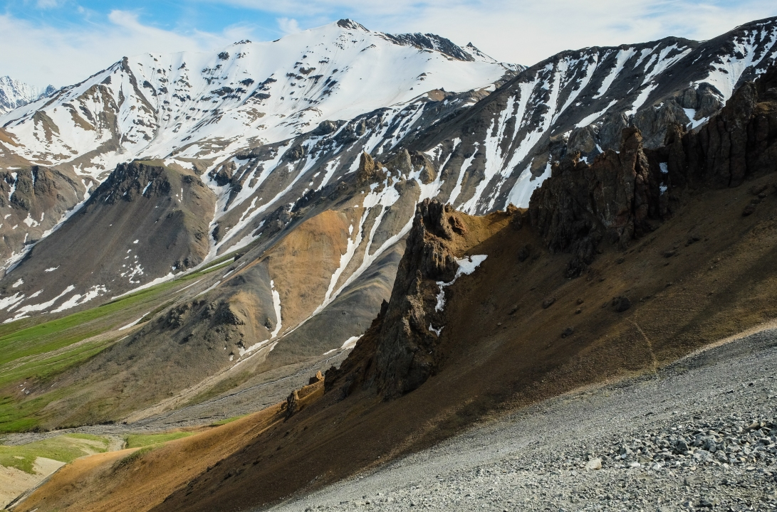 Snow slopes, and scree